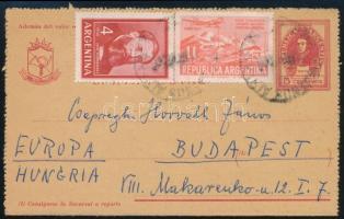Díjkiegészített díjjegyes levelezőlap Budapestre PS card to Hungary, Budapest