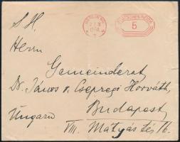 Nyomtatvány Budapestre, Printed matter to Budapest