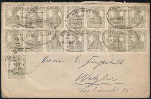 "Cover with 15x2Pf franking ;Deutsches Reich;1920 Levél 15 x 2Pf bérmentesítéssel ""CÖLN-GIESSEN"" vasúti bélyegzéssel"