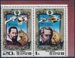 Kepler blokkból kitépett bélyegpár Kepler stamp pair from block