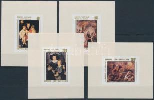 1978 Rubens festmény Mi 527-530 de luxe blokksor