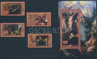Rubens painting set + block Rubens festmény sor + blokk