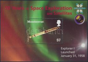 Space Research block Az űrkutatás 50. évfordulója blokk