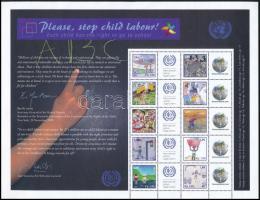 Üdvözlőbélyeg teljes ív Greetings stamps complete sheet