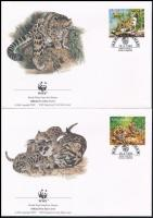 WWF Clouded leopard set on 4 FDC, WWF: Ködfoltos párduc sor  4 db FDC-n