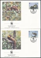 WWF Pine-marten set on 4 FDC WWF Nyuszt sor 4 db FDC-n