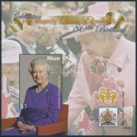 Elizabeth II. block, II. Erzsébet királyné 80. születésnapja blokk
