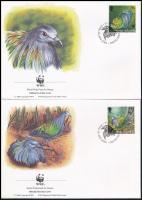 WWF Manly dove set 4 FDC WWF: Sörényes galamb sor 4 db FDC-n