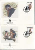 WWF Monkey set on 4 FDC WWF: Majom sor  4 db FDC-n