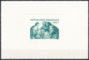 1975 Rubens festmény blokk Mi 70 eltérő színű próbanyomat karton papíron