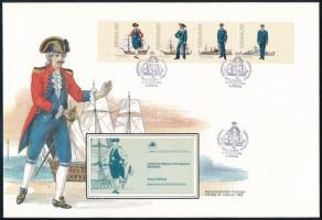 Uniforms stamp-booklet sheet FDC, Egyenruha bélyegfüzetlap FDC-n