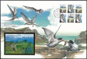 Sea birds block of 6 on FDC Tengeri madarak hatostömb  FDC-n