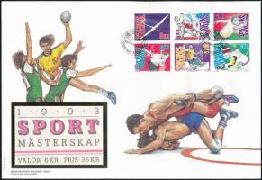 Sport stamp booklet sheet FDC, Sport bélyegfüzetlap FDC-n