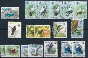 1977-1996 18 Bird stamps 1977-1996 18 db Madár bélyeg