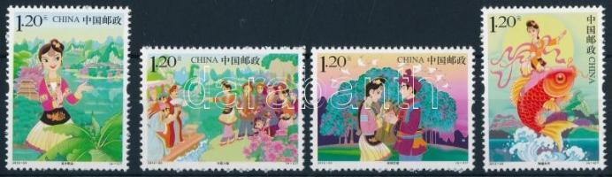 2012 Liu Sanjie kínai történet sor Mi 4383-4386