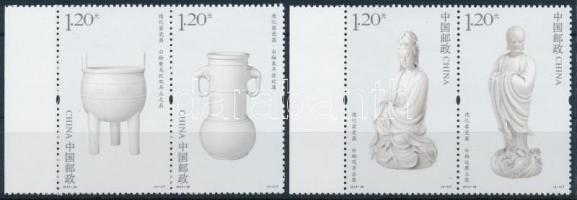 2012 Porcelán sor ívszéli párokban Mi 4406-4409