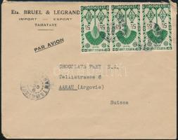 Airmail cover to Switzerland Légi levél Svájcba