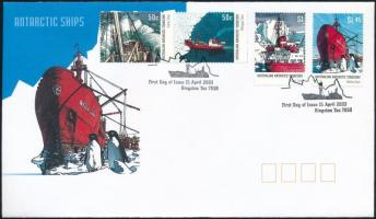 Research ship set FDC Kutató hajó sor FDC-n