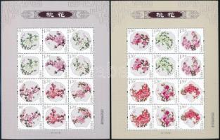 Peach Flowers mini sheet set, Barackvirágok kisív sor