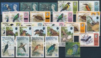 1965-1993 27 Bird stamps + 2 blocks 1965-1993 27 db Madár bélyeg és 2 blokk