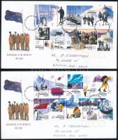 Kutatóállomás teljes ív 2 db FDC-n Research Station complete sheet on 2 FDC