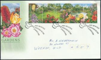 Horticulture stripe of 5 FDC, Kertészet ötöscsík FDC-n