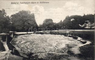 Hellbrunn, Alps relief, Hellbrunn, Relief der Salzburger Alpen