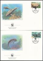 WWF Dugong set 4 FDC WWF: Dugong sor 4 db FDC-n