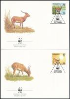 WWF Antilope set on 4 FDC WWF antilop sor 4 db FDC-n