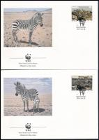 WWF Zebra set 4 FDC WWF Zebra sor 4 db FDC-n