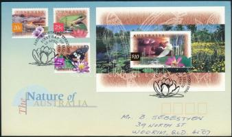 Forgalmi sor + blokk FDC-n, Definitive set + block FDC