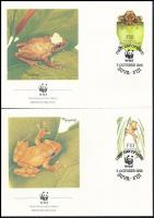 WWF Frogs set on 4 FDC, WWF Békák sor 4 db FDC-n