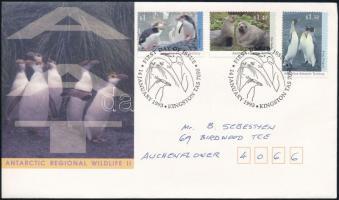 Arctic wildlife set FDC, Sarkvidéki állatvilág sor FDC-n