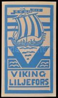 Bertel Kaukoja finn viking ex libris. X3. Linómetszet  75x135 mm