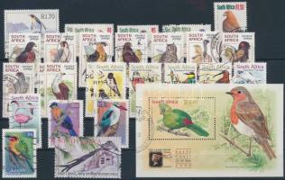 1961-2004  Bird 72 db stamps + 1 block 1961-2004 72 db Madár bélyeg és 1 blokk 2 stecklapon