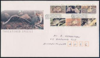 Forgalmi hatostömb FDC-n, Definitive block of 6 FDC