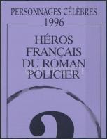 French detective novel heroes stamp-booklet Francia detektív regényhősök bélyegfüzet