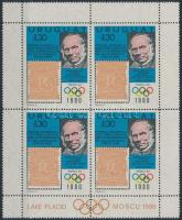 Events: Olympics block of 4 Események: Olimpia négyestömb