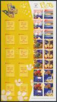 International Stamp Exhibition SINGPEX '01 self-adhesive foil-sheet Nemzetközi Bélyegkiállítás SINGPEX '01 öntapadós fóliaív