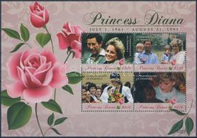 Princess Diana mini sheet, Diana kisív