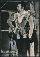 Nicola Rossi-Lemeni (1920-1991) operaénekes aláírt fotólapja / Autograph signed photo postcard