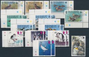 1992-2000  21 bird stamps 1992-2000 21 db Madár bélyeg