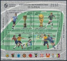 Latin American Stamp Exhibition, Football World Cup block Latin-amerikai bélyegkiállítás, futball világbajnokság blokk
