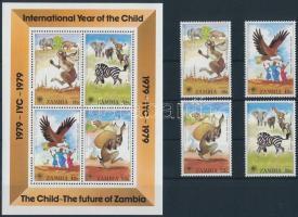 1979 Nemzetközi gyermekév; afrikai mesék sor Mi 205-208 + blokk Mi 5