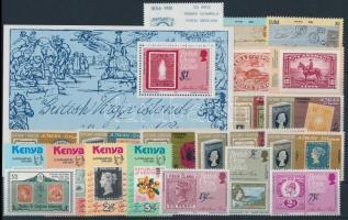 1979-1982 Rowland Hill 21 stamps + block, 1979-1982 Rowland Hill motívum 21 klf bélyeg + blokk