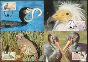 WWF Birds set on 4 CM WWF Madarak 4 db CM