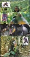 WWF: Mandrill set on 4 CM, WWF: Mandrill sor 4 db CM-en