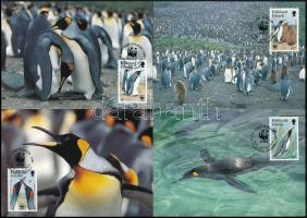 ;WWF Pinguin set on 4 CM WWF: Király pingvin 4 érték 4 CM-en