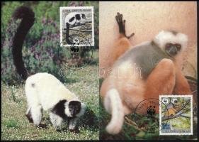 WWF Lemurs set 4 VM WWF lemurok sor 4 db CM-n