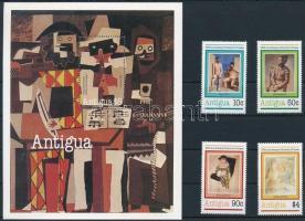 Picasso set + block, Picasso születésének 100. évfordulója sor + blokk